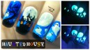 Halloween Haunted House ⎮Glow in the Dark Freehand Nail Art Tutorial
